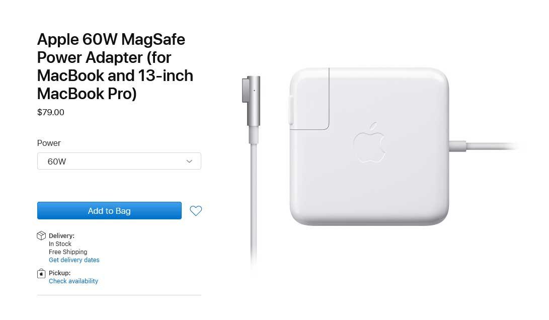 شارژر لپ تاپ اپل 60 وات Apple Magsafe1