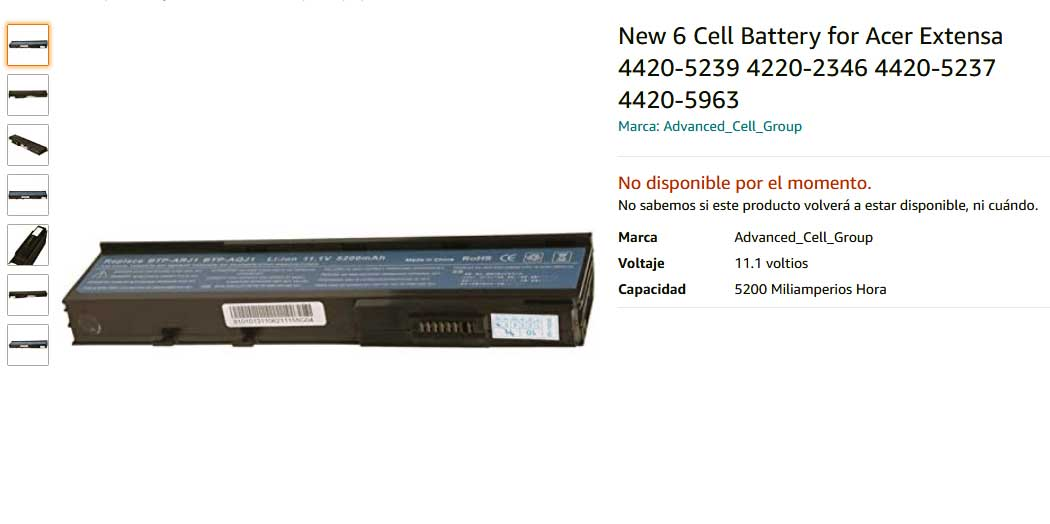 باتری لپ تاپ ایسر Extensa 4220 4230 4630 BTP-ARJ1