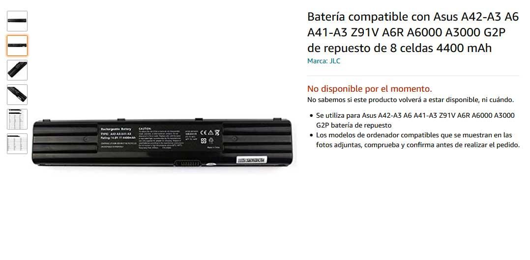 باتری لپ تاپ ایسوس A3 A7K Z9200Vc A3000 A42-A3