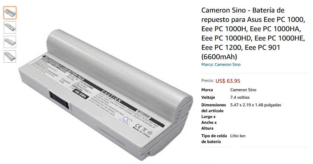 باتری لپ تاپ ایسوس Eee Pc 1000 1200 900 901 White