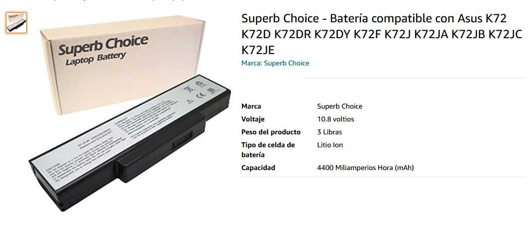 باتری لپ تاپ ایسوس A72 K72DR N71 N73 A32-K72