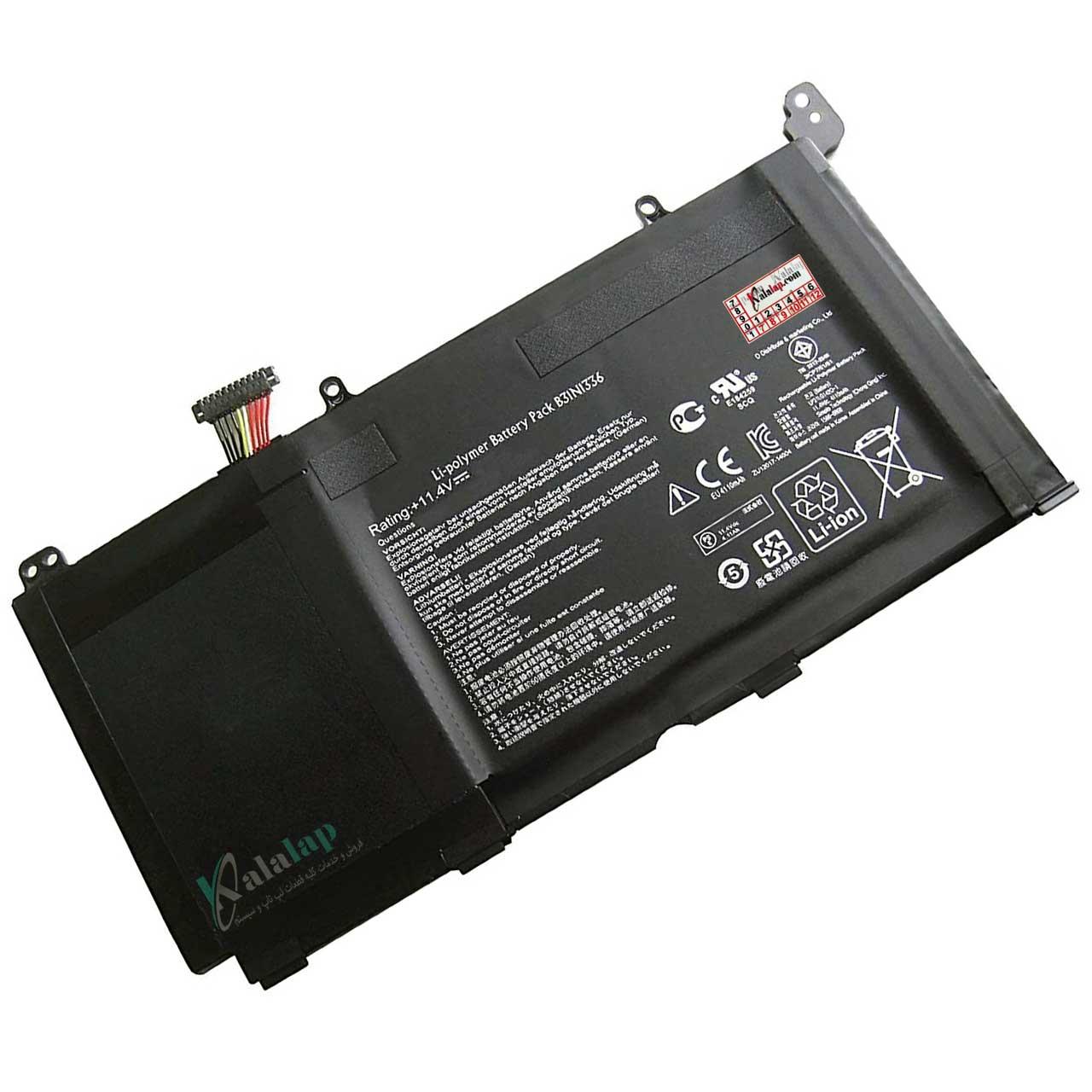 باتری لپ تاپ ایسوس S551 K551 V551 B31N1336