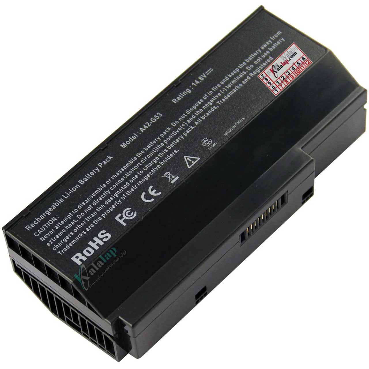 باتری لپ تاپ ایسوس G53 G73 G53JH G53JQ A42-G53