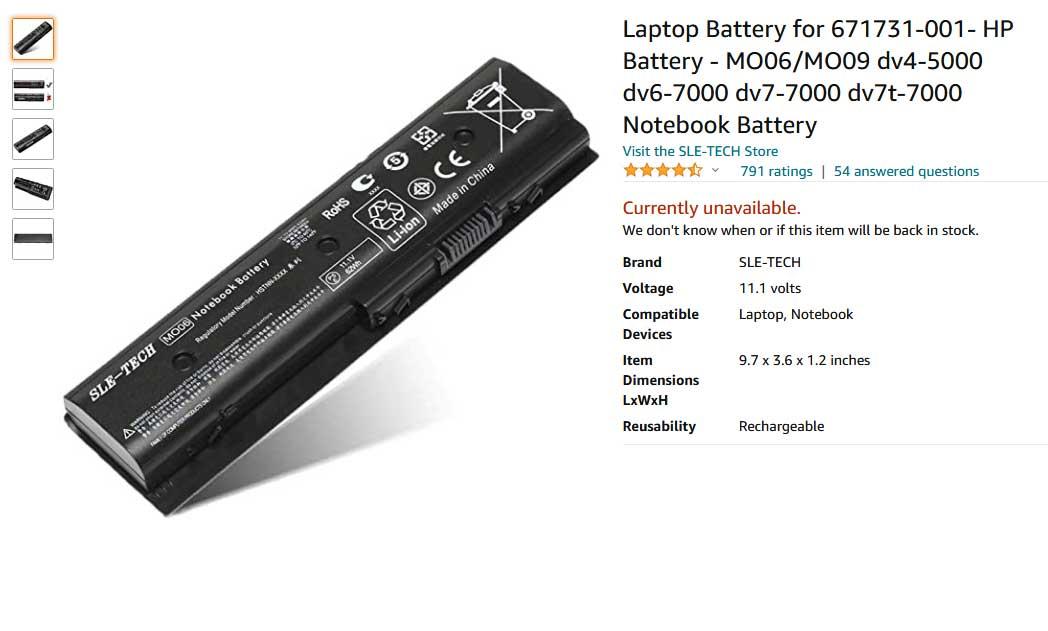 باتری لپ تاپ اچ پی DV6-7000 DV7-7000 MO06 MO09