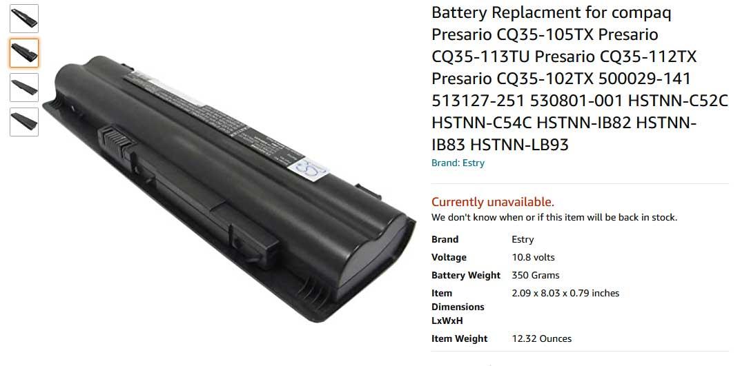 باتری لپ تاپ اچ پی VD3-2000 DV3T CQ35 CQ36