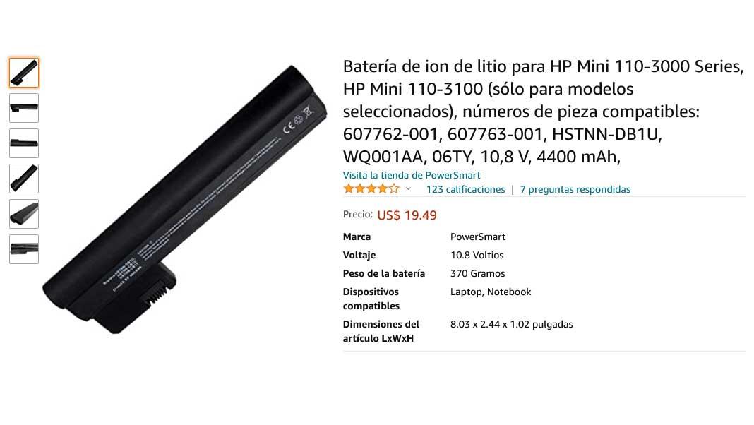 باتری لپ تاپ اچ پی Battery HP Mini 110-3000