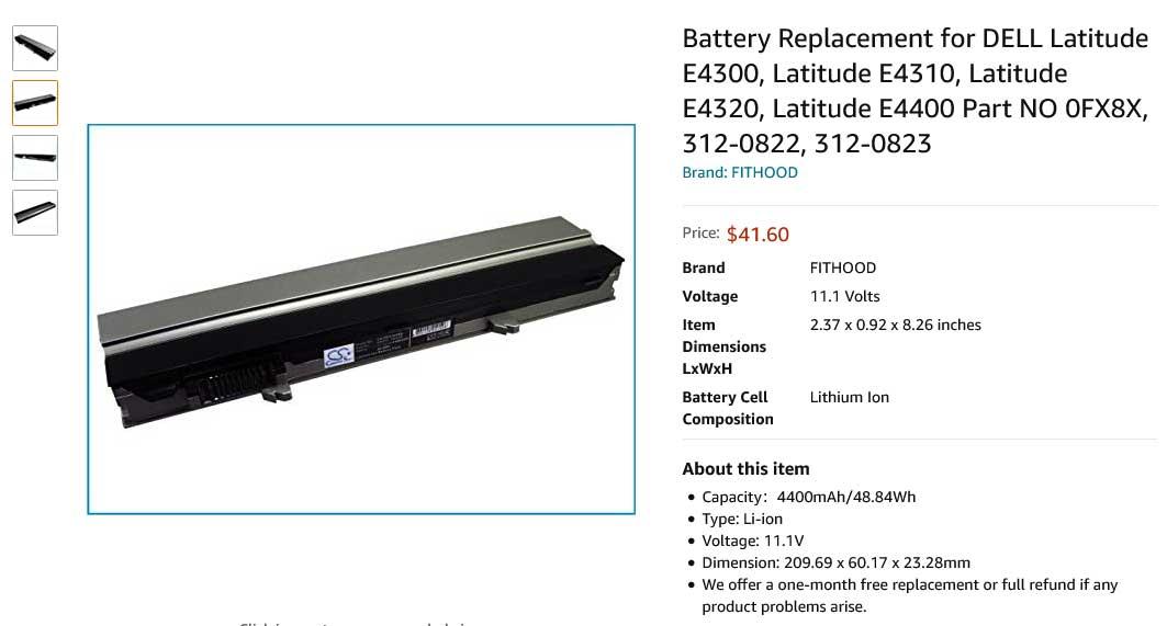 باتری لپ تاپ دل Dell Latitude E4300 E4310