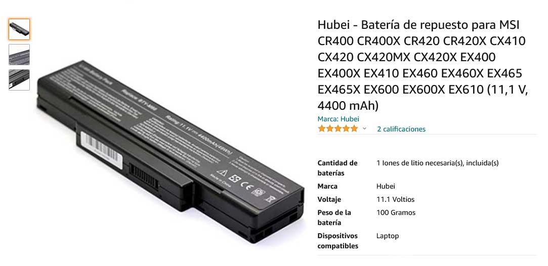 باتری لپ تاپ ام اس آی Battery Laptop MSI CR420