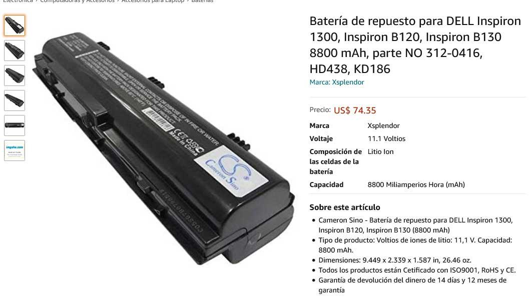 باتری لپ تاپ دل Battery Dell Inspiron 1300 9cell