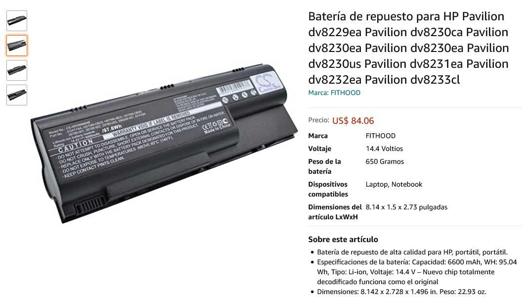 باتری لپ تاپ اچ پی Battery Hp Pavilion DV8000