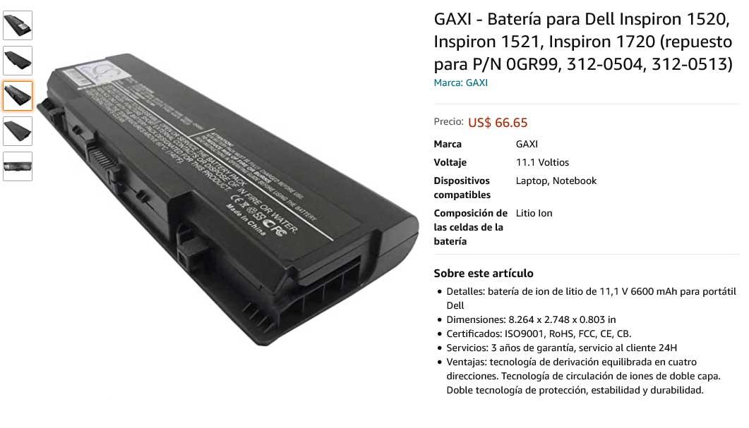 باتری لپ تاپ دل Battery Dell Inspiron 1520 9cell