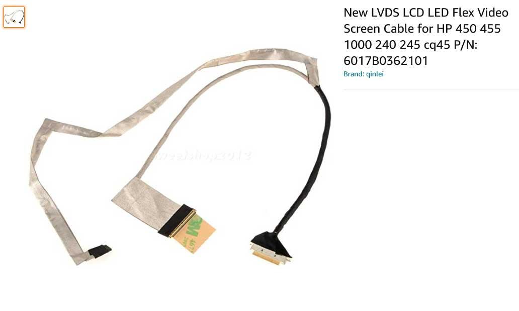 کابل فلت تصویر لپتاپ اچ پی HP CQ45 450 455 240 245 1000 2000