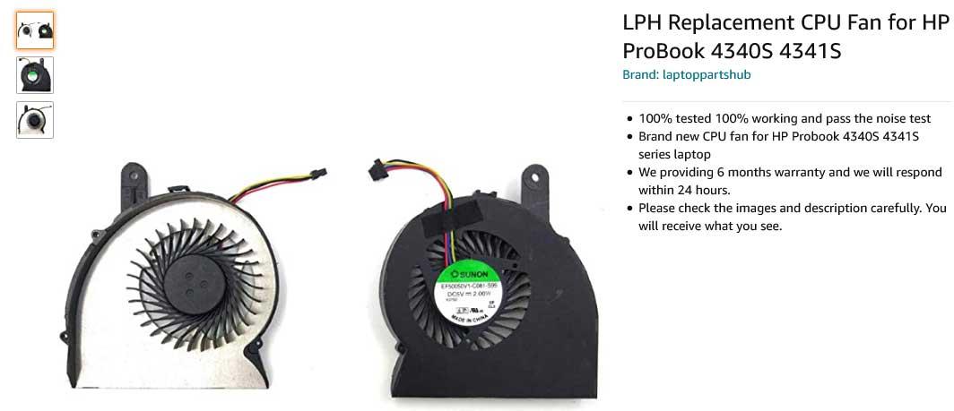 فن لپ تاپ اچ پی Fan HP ProBook 4340S 4341S