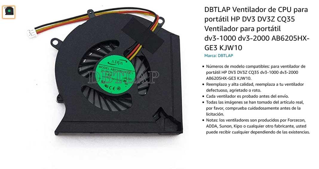 فن لپ تاپ اچ پی HP Pavillion DV2 DV3 CQ35 CQ36