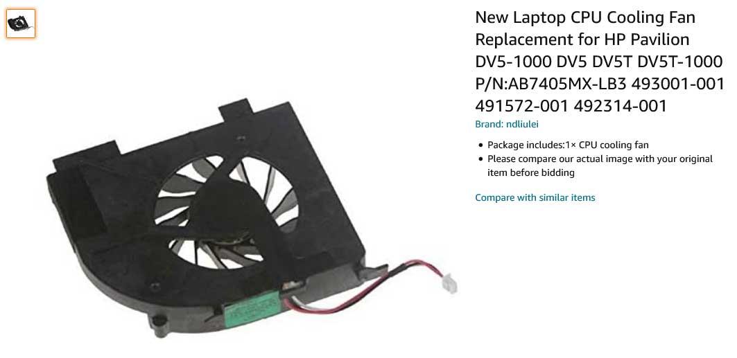فن لپ تاپ اچ پی Pavilion DV5-1000 DV5 DV5T DV5T-1000