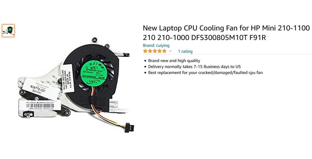 فن لپ تاپ اچ پی FAN HP MINI 210 With HeatSink