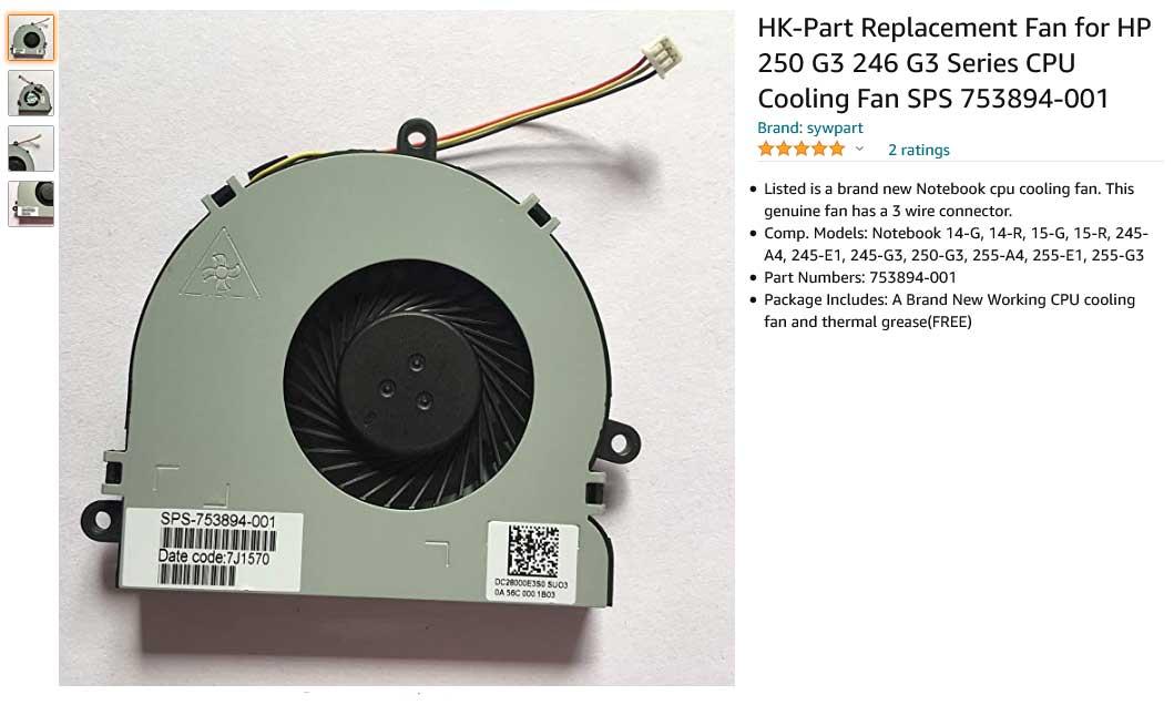 فن لپ تاپ اچ پی HP 250-G3 246-G3 245-G3 15-G