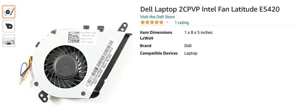 فن لپ تاپ دل Latitude E5420 2CPVP 02CPVP