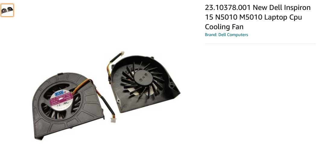 فن لپ تاپ دل Inspiron 15R N5010 5010 M5010 MF60120
