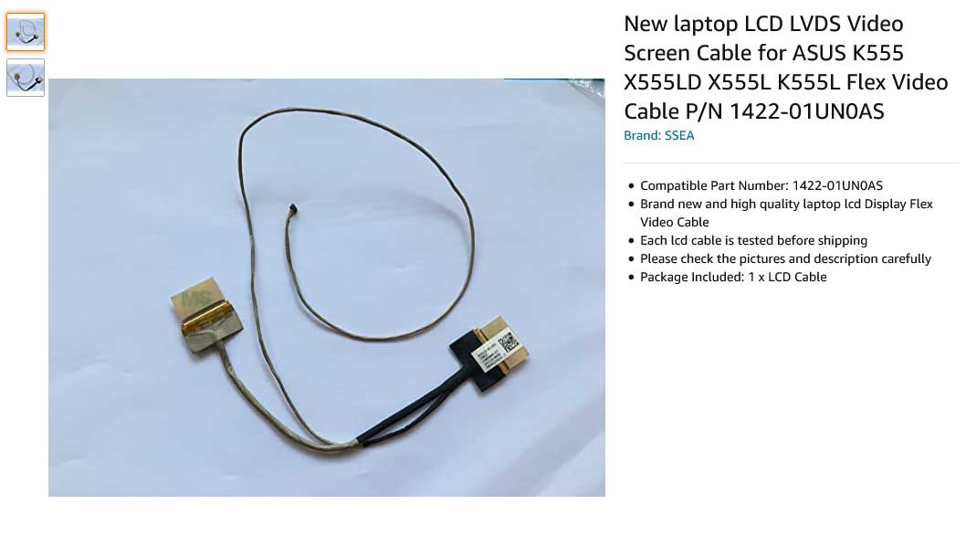 کابل فلت تصویر لپ تاپ ایسوس K555 X555LD X555L K555L