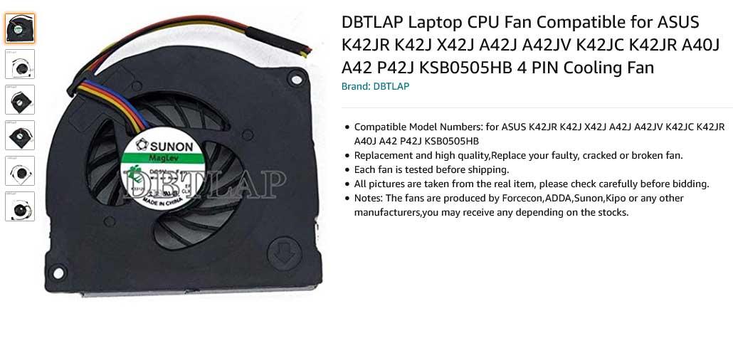 فن لپ تاپ ایسوس X42 K42J K42 A40J A40 A42J K42