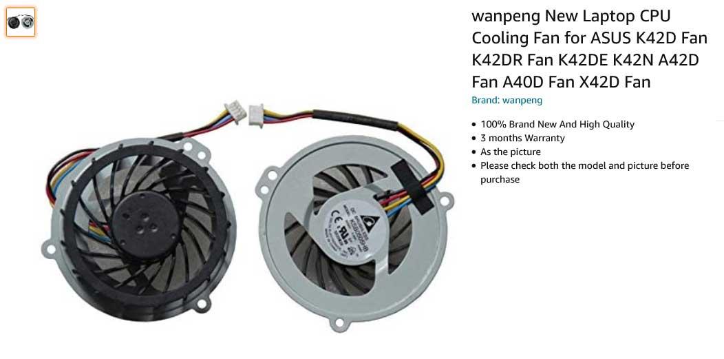 فن لپ تاپ ایسوس K42D X42D A42D X42J X42E K42N