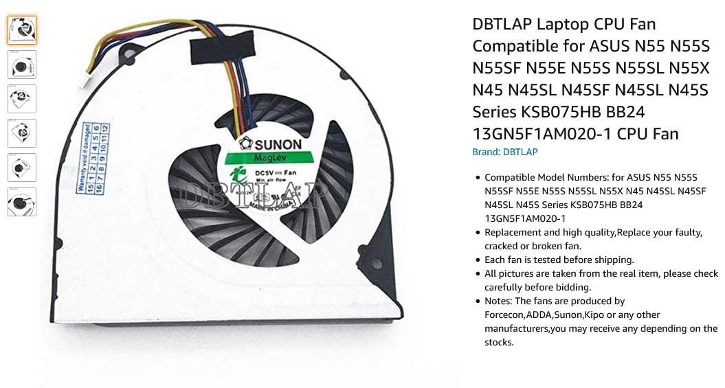 فن لپ تاپ ایسوس N45 N55 N56 N55SF N45SF N55SL