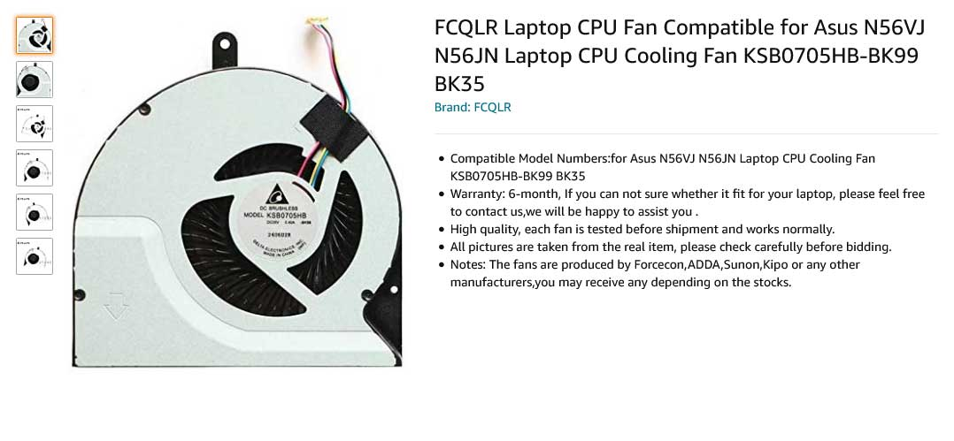 فن لپ تاپ ایسوس N56JN N56DP N56VW N56VM N56VZ