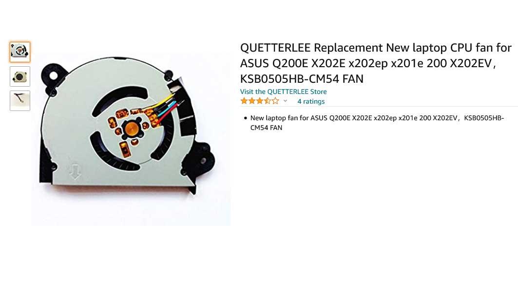 فن لپ تاپ ایسوس X202 X201E X201EP X202E Q200E