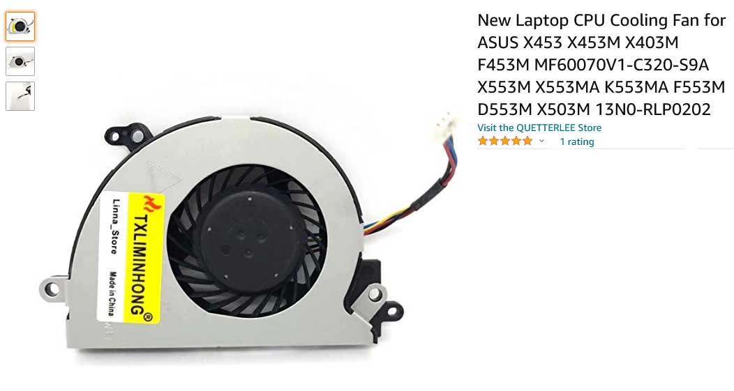 فن لپ تاپ ایسوس X453 X453M X453M X403M X553