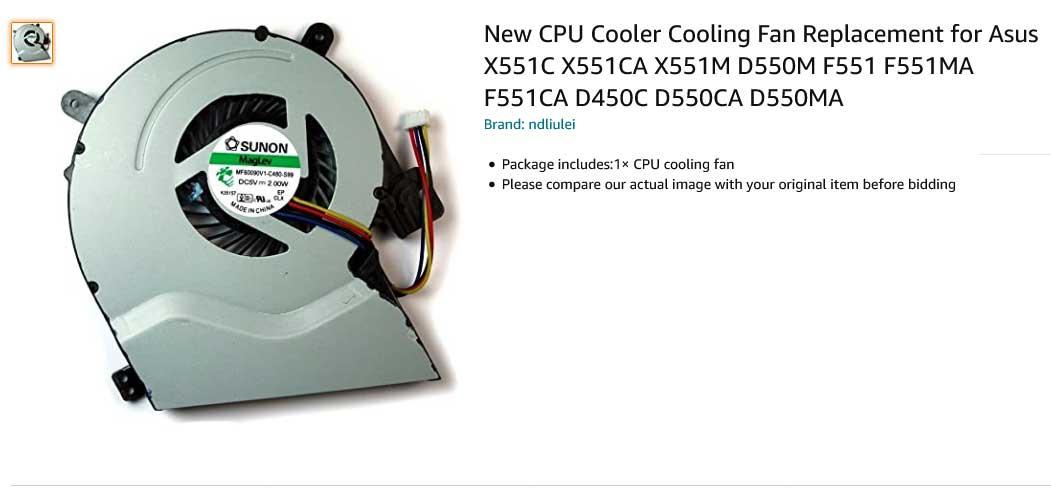 فن لپ تاپ ایسوس X551 X551C X551CA D550M F551
