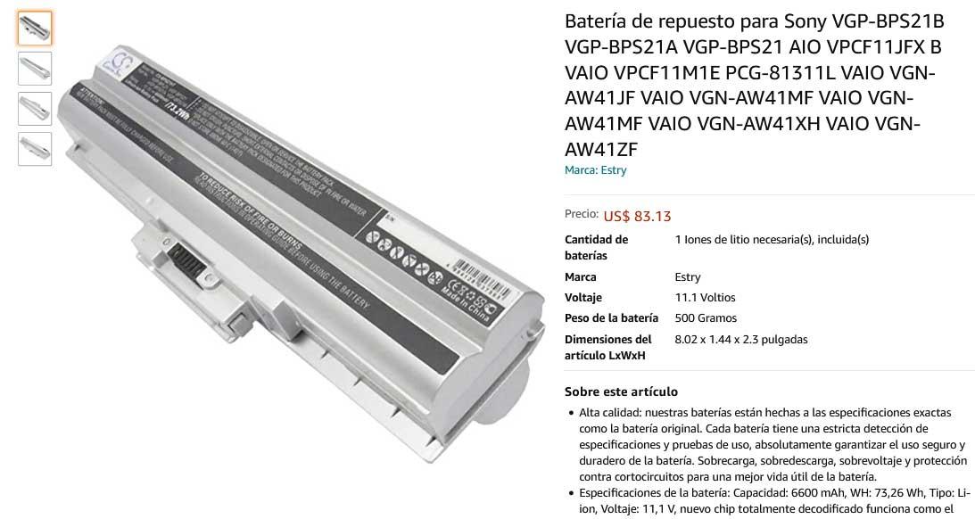 باتری لپ تاپ سونی Sony VGP-BPS21 White