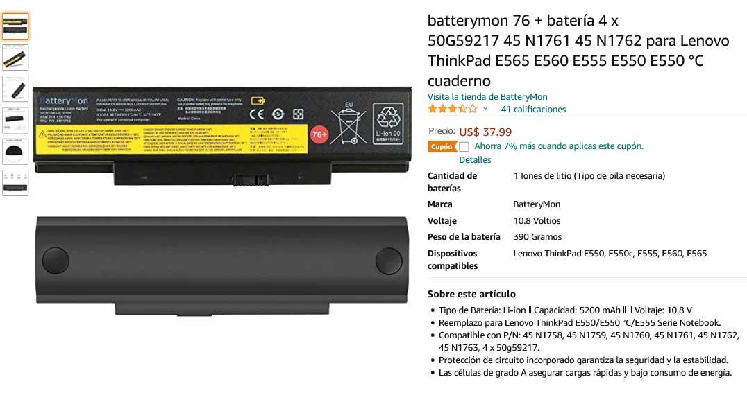 باتری لپ تاپ لنوو ThinkPad E550 E565 45N1763