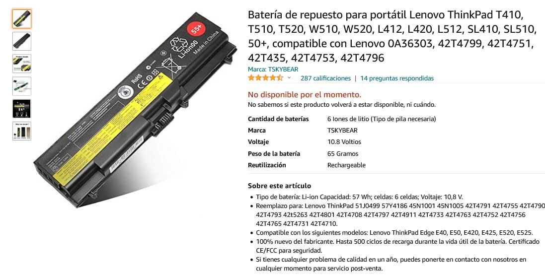 باتری لپ تاپ لنوو Lenovo Thinkpad T410 T510