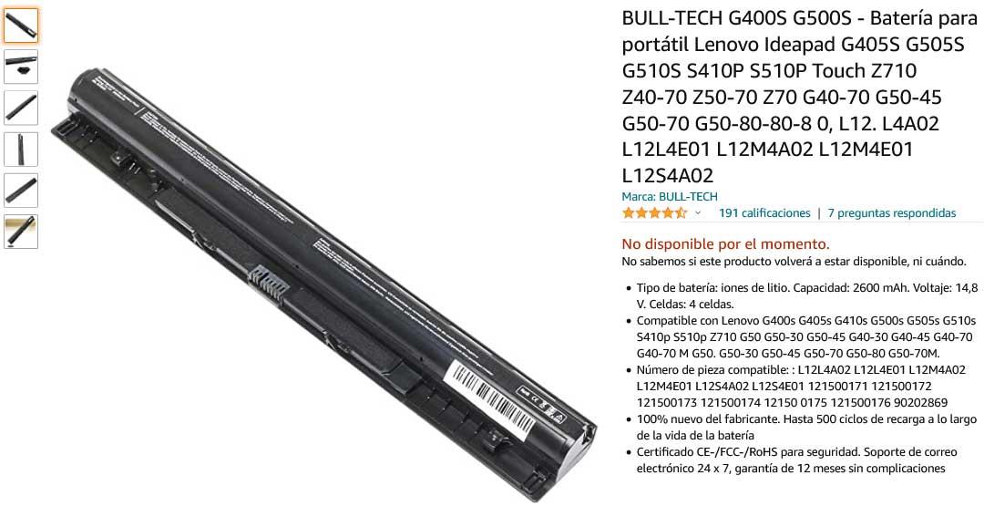 باتری لپ تاپ لنوو G400S G500S G50-70 Z50-70