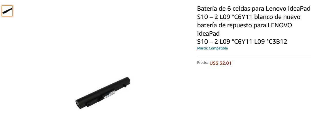 باتری لپ تاپ لنوو Lenovo IdeaPad S10-2 6cell