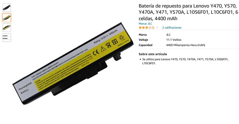 باتری لپ تاپ لنوو Ideapad Y470 Y570 L10P6F01