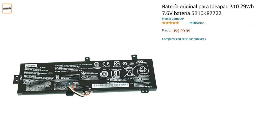 باتری لپ تاپ لنوو Ideapad 310-14ISK L15L2PB4