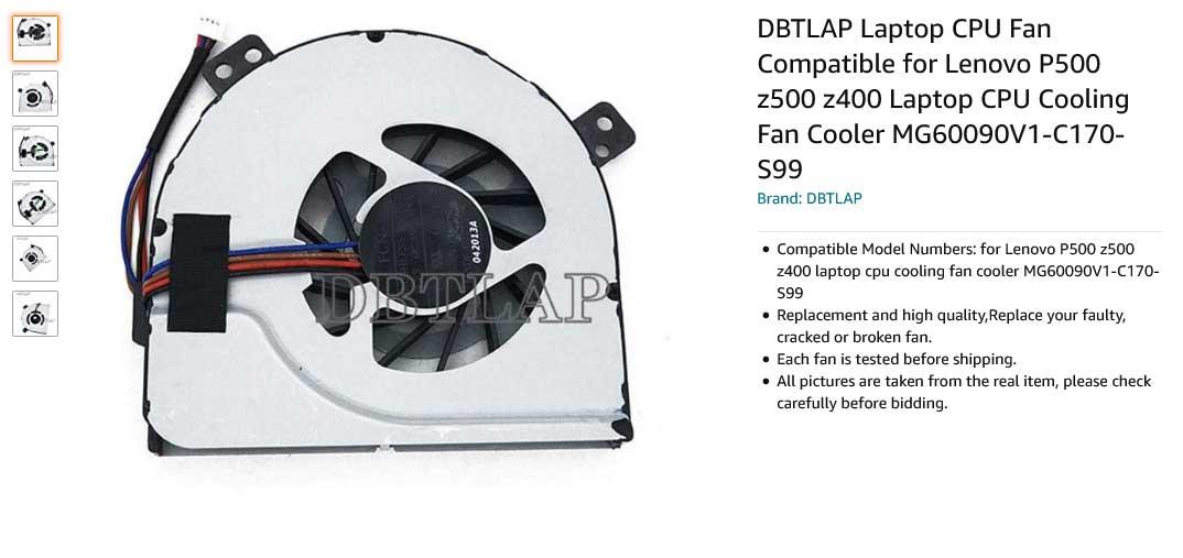 فن لپ تاپ لنوو IdeaPad Z400 P500 Z500 Z410 Fan Z510 Z400A