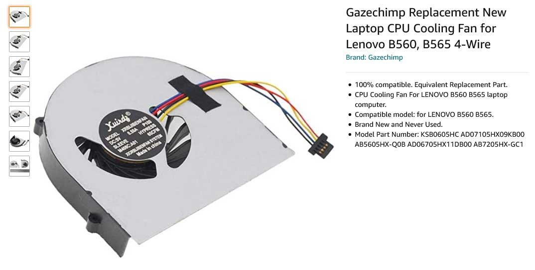 فن لپ تاپ لنوو LENOVO B560 B565 V560 V565 Z560