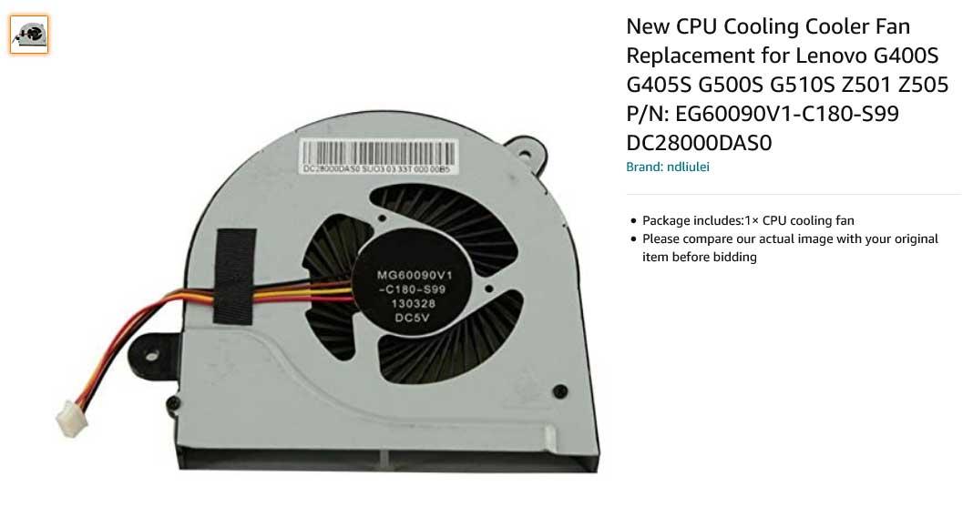فن لپ تاپ لنوو G400S G405S G500S G510S Z501 Z505