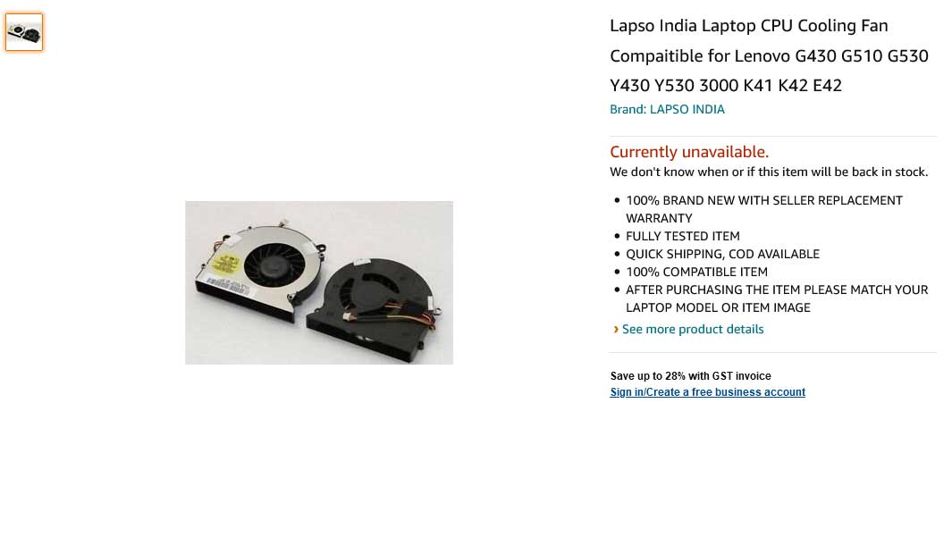 فن لپ تاپ لنوو Lenovo G430 G530 Y430 V450 E41 K41