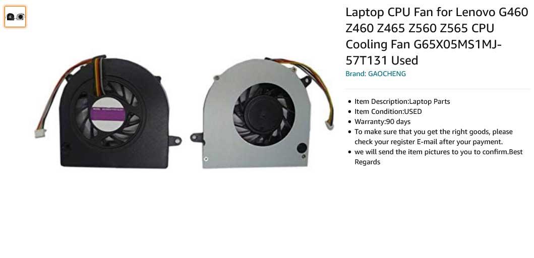 فن لپ تاپ لنوو G560 G460 Z460 Z465 Z560 Z565