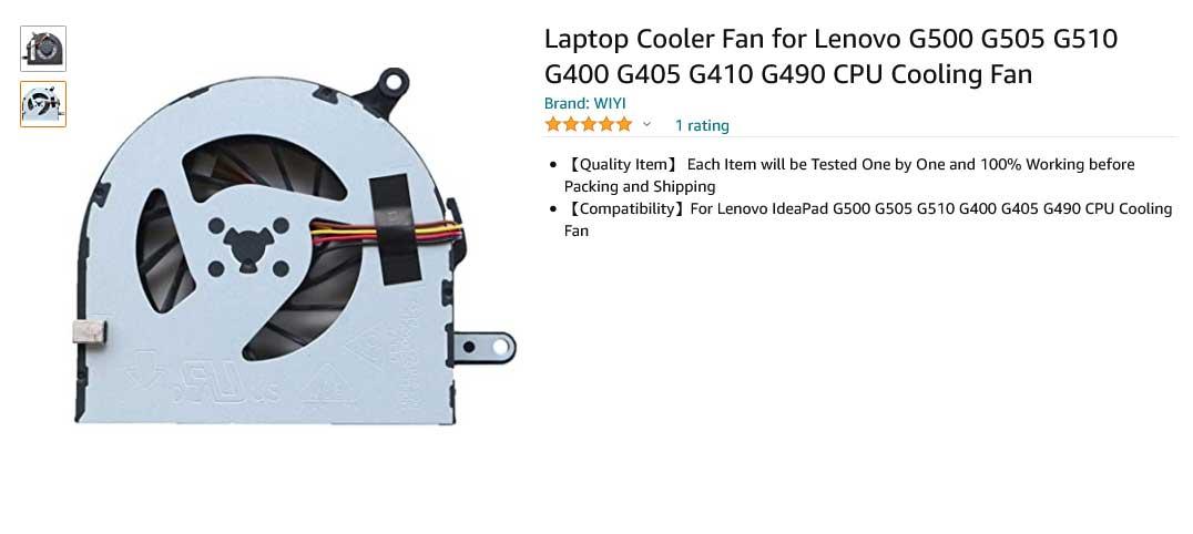 فن لپ تاپ لنوو Lenovo G500 G505 G510 G400 G405 G410 G490