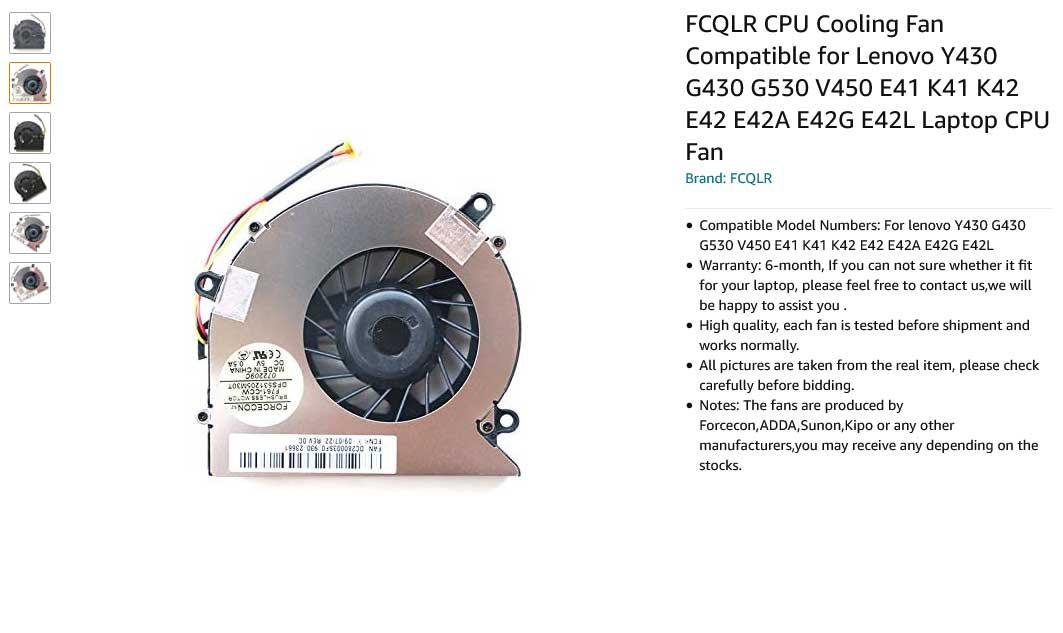 فن لپ تاپ لنوو Y430 G430 G530 V450 E41 K41 K42 E42 E42A