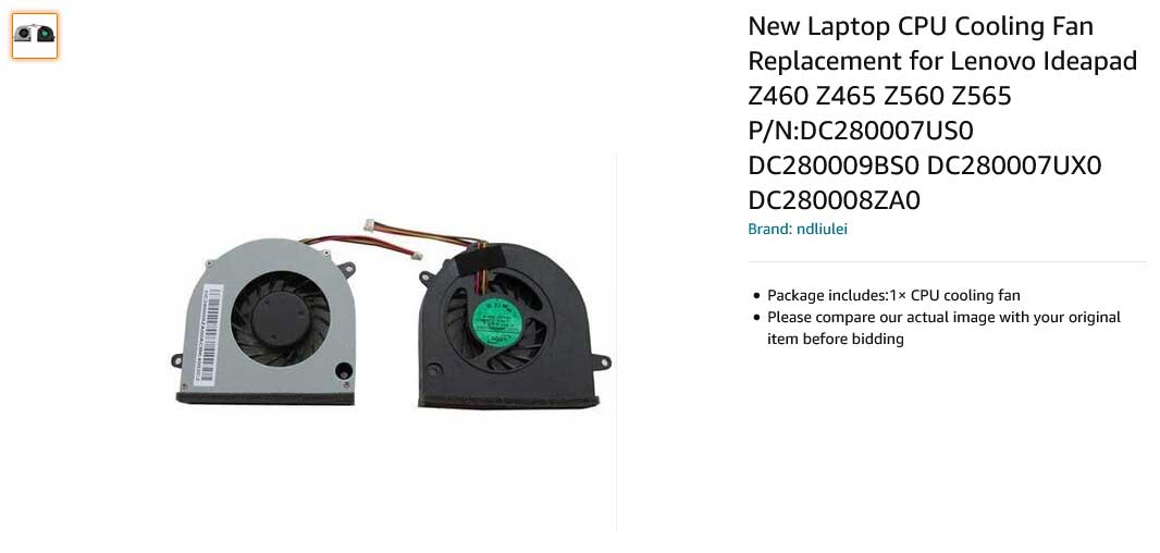 فن لپ تاپ لنوو Ideapad Z460 Z465 Z560 Z565