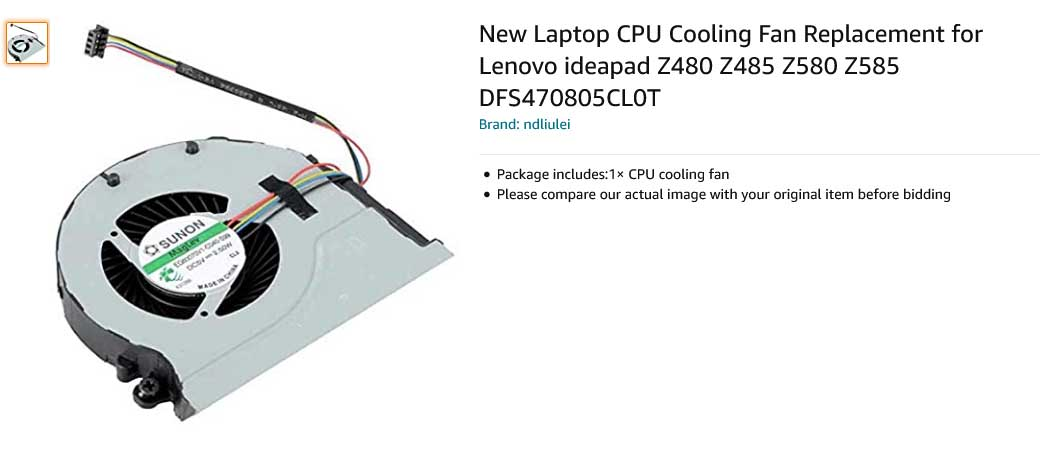 فن لپ تاپ لنوو Ideapad Z480 Z485 Z580 Z585 DFS551305MC0T