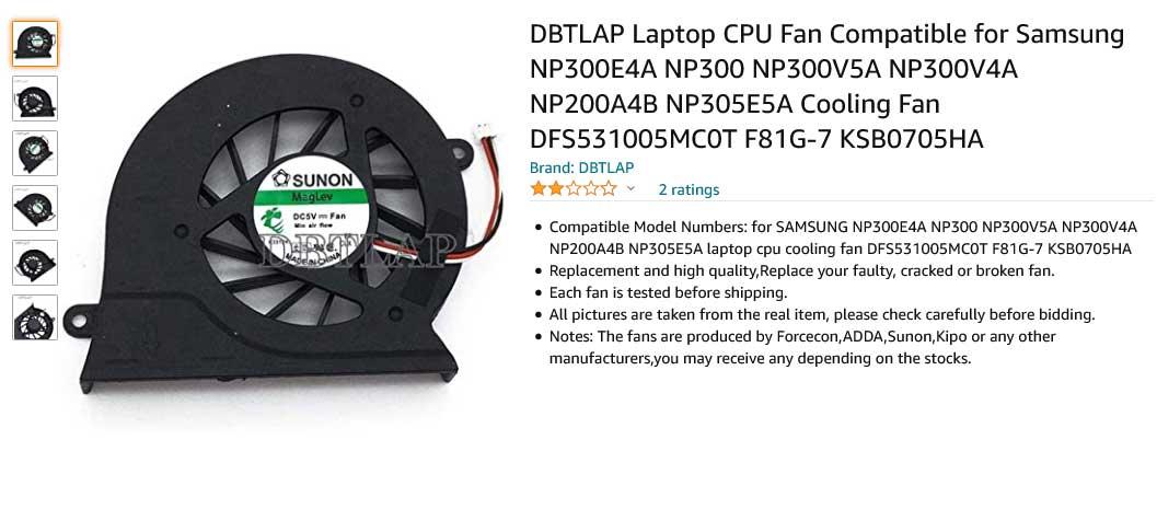 فن لپ تاپ سامسونگ NP300E4A NP300 NP300V5A Fan NP300V4A