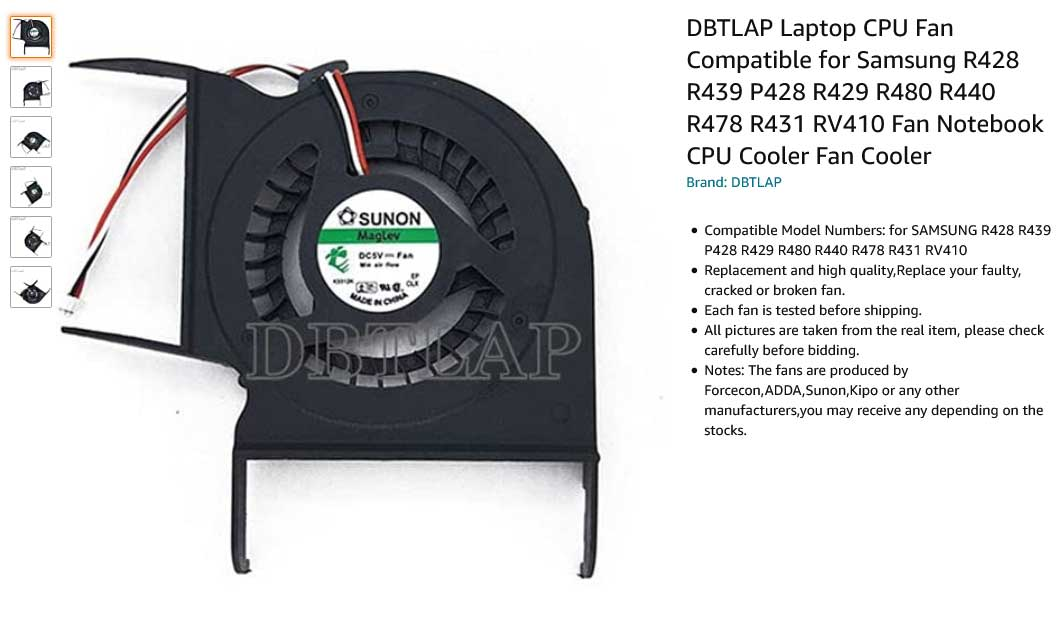 فن لپ تاپ سامسونگ Fan R428 R439 P428 R429 R480 R440 R478