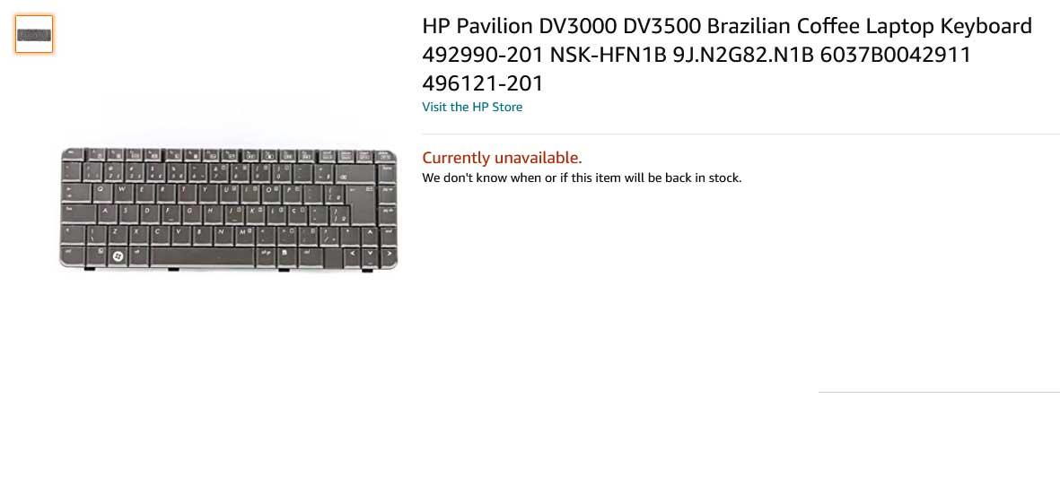 کیبورد لپ تاپ اچ پی DV3000 DV3200 DV3500 3600